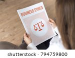 business ethics concept | Shutterstock . vector #794759800