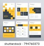 business company profile ... | Shutterstock .eps vector #794760373