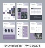 business company profile ... | Shutterstock .eps vector #794760376