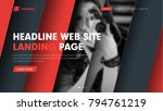web site header template with... | Shutterstock .eps vector #794761219