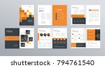 template layout design with... | Shutterstock .eps vector #794761540