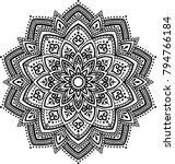 mandala pattern black and white ... | Shutterstock .eps vector #794766184
