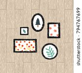 Set Of Frame Texture Vector...