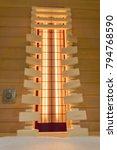 backrest in an infrared cabin | Shutterstock . vector #794768590