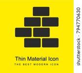 bricks bright yellow material...