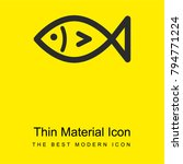 fish bright yellow material...