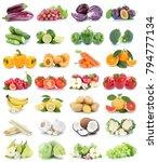 fruits and vegetables... | Shutterstock . vector #794777134