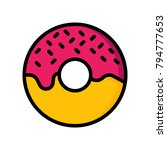 food and drink   doughnut   | Shutterstock .eps vector #794777653