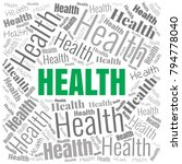 health word cloud. square... | Shutterstock .eps vector #794778040