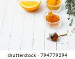 sore throat alternative therapy ... | Shutterstock . vector #794779294