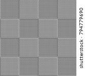 black and white houndstooth... | Shutterstock .eps vector #794779690