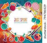 color sport background....   Shutterstock .eps vector #794780329