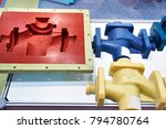 molds for casting and plastic... | Shutterstock . vector #794780764