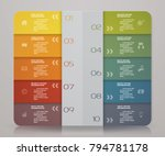 infographics presentation and... | Shutterstock .eps vector #794781178