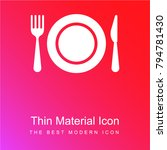 dish fork and knife red and... | Shutterstock .eps vector #794781430
