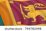 realistic flag of sri lanka....