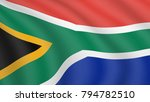 realistic waving flag of south... | Shutterstock .eps vector #794782510