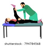 physiotherapist and patient... | Shutterstock .eps vector #794784568