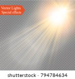 vector transparent sunlight... | Shutterstock .eps vector #794784634