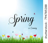 spring season background ... | Shutterstock .eps vector #794785288