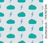 simple children's doodle... | Shutterstock .eps vector #794787244