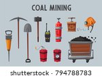 set of mining tools. worker's... | Shutterstock .eps vector #794788783
