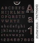 metal art alphabet | Shutterstock .eps vector #794790040