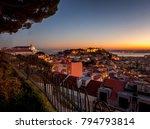 beautiful cityscape  lisbon ... | Shutterstock . vector #794793814