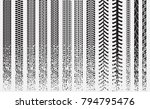 tire tracks of various vehicles | Shutterstock .eps vector #794795476