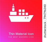 boat with containers red and... | Shutterstock .eps vector #794796340