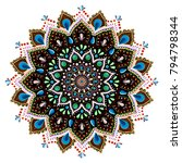 a mandala. decorative round... | Shutterstock .eps vector #794798344