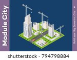 module isometric city of houses ... | Shutterstock .eps vector #794798884