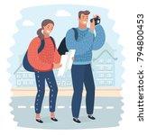 vector cartoon illustration... | Shutterstock .eps vector #794800453