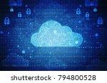 2d rendering cloud computing | Shutterstock . vector #794800528