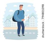 vector cartoon illustration of... | Shutterstock .eps vector #794801098
