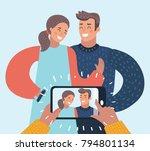 vector cartoon illustration of... | Shutterstock .eps vector #794801134