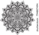 black and white mandala vector... | Shutterstock .eps vector #794807494