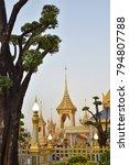 the royal crematorium rear view ...   Shutterstock . vector #794807788