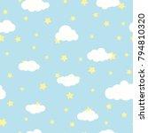 seamless cartoon background... | Shutterstock .eps vector #794810320