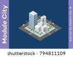 town district of the city in... | Shutterstock .eps vector #794811109