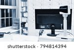 cash desk   computer and... | Shutterstock . vector #794814394