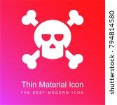 halloween skull and crossbones...   Shutterstock .eps vector #794814580