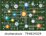 cryptocurrency mining... | Shutterstock .eps vector #794819329