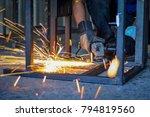 the work of the welders by... | Shutterstock . vector #794819560