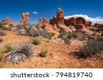 sandstone rock formations in... | Shutterstock . vector #794819740