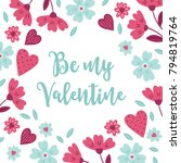 valentine greeting card with...   Shutterstock .eps vector #794819764