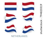 set of icons of the flag of... | Shutterstock .eps vector #794820319