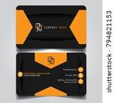 dark orange creative modern... | Shutterstock .eps vector #794821153