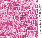 love pattern. pink seamless... | Shutterstock .eps vector #794824720