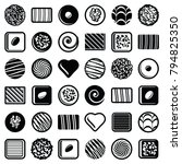 chocolate pralines candies icon ...   Shutterstock .eps vector #794825350